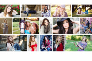 kansas city senior portrait website collage